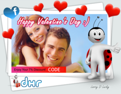 DHR.com Facebook Valentine's Day Card